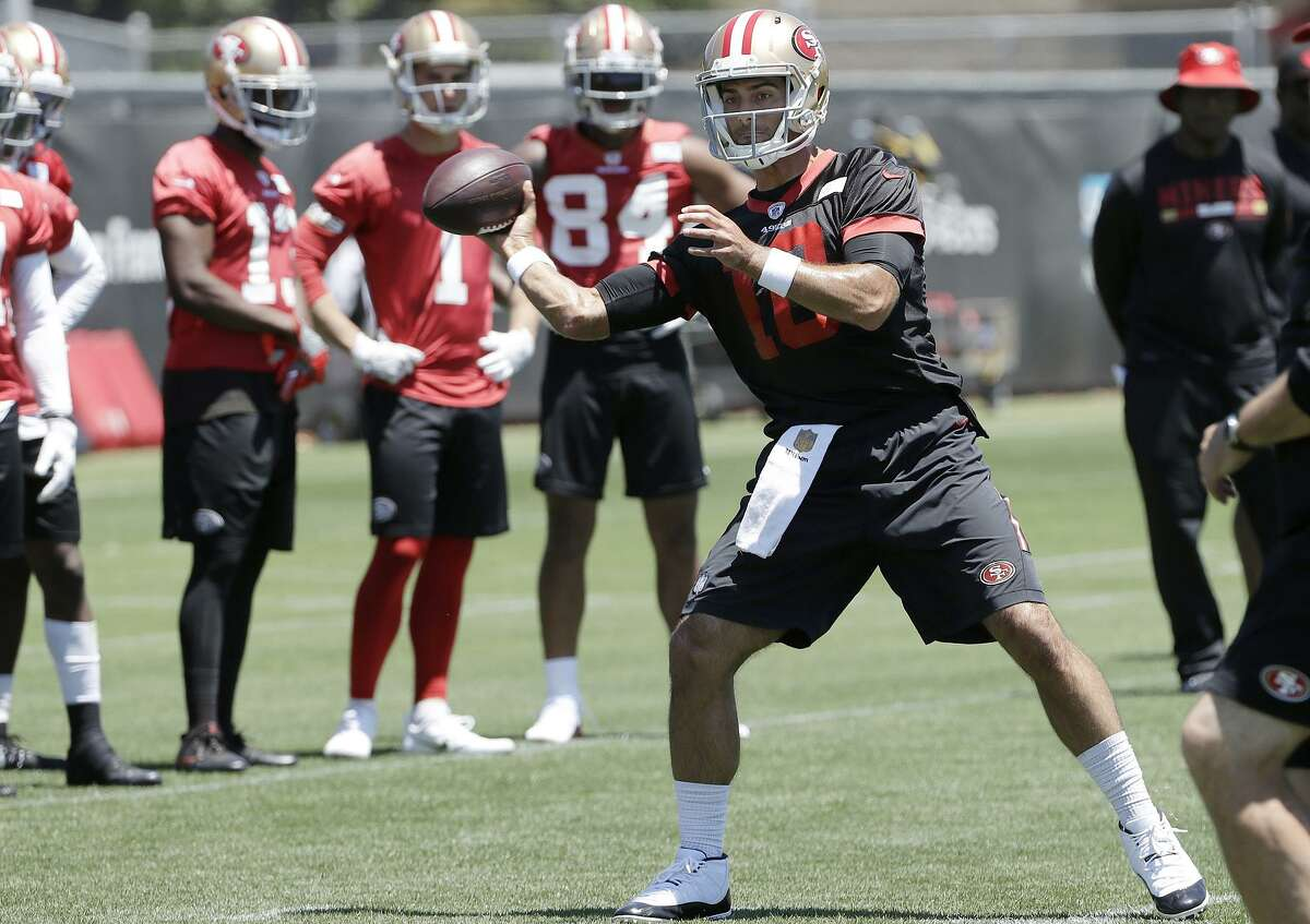 Jimmy Garoppolo led the 49ers to wins in all five games he started at the end of last season.