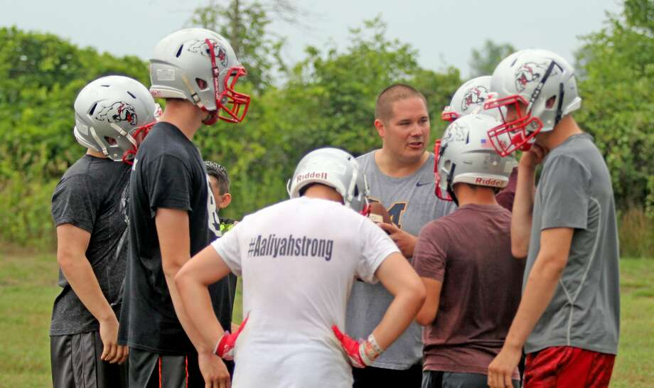 Owendale-Gagetown football practice 2018 Photo: Mike Gallagher/Huron Daily Tribune