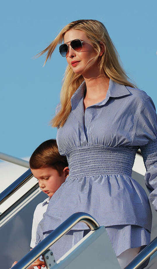 Ivanka Trump, the daughter of President Donald Trump, arrives in July at Andrews Air Force Base, Maryland, en route to Washington. Photo:       Carolyn Kaster | AP