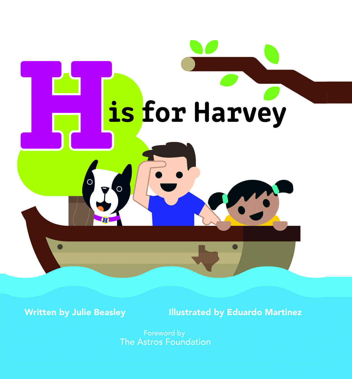 The cover of the children's book 'H Is for Harvey'