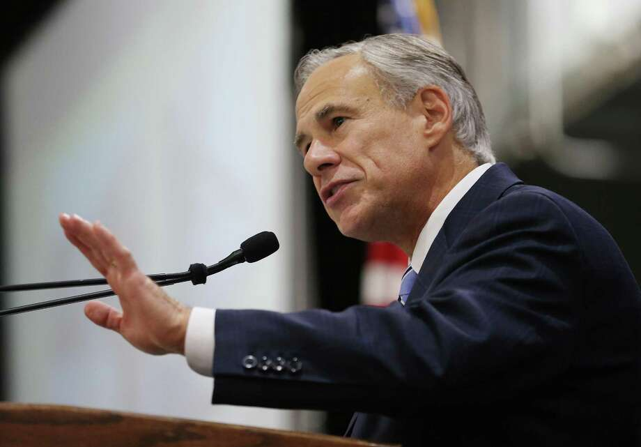 Texas Gov. Greg Abbott addresses the South Belt-Ellington Chamber of Commerce annual banquet at Lone Star Flight Museum Heritage Hanger in Houston on Thursday, July 19, 2018. ( Elizabeth Conley / Houston Chronicle )  Continue clicking to see more police officers killed in the line of duty. Photo: Elizabeth Conley, Staff Photographer / Houston Chronicle / © 2018 Houston Chronicle