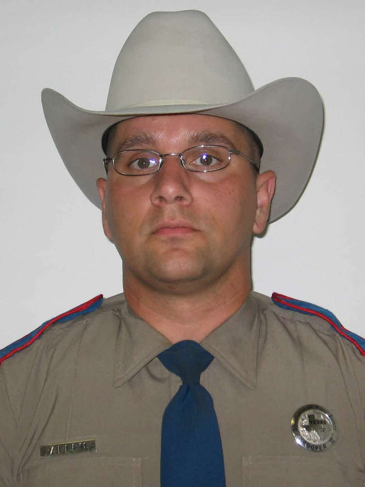 This undated image released by the Texas Department of Public Safety shows DPS Trooper Damon Allen who was killed on Thanksgiving, Nov. 23, 2017, while making a traffic stop in East Texas. Dabrett Black, 32, was charged Friday with capital murder. (Texas Department of Public Safety via AP)