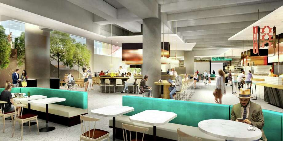 Skanska has partnered with architect Michael Hsu to create Understory, a 35,000-square-foot community hub and culinary market at Capitol Tower. The space will include a full-service restaurant and a 9,000-square-foot culinary market with seven diverse chef-driven concepts and a cocktail bar. The 35-story office building will open in 2019. Photo: Skanka / Skanska