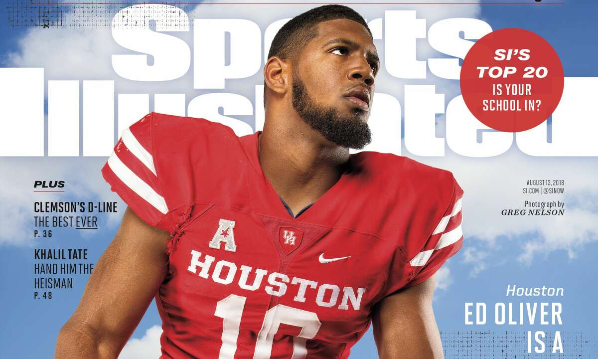 PHOTOS: Houston athletes who have made the Sports Illustrated cover  University of Houston All-American defensive tackle Ed Oliver is featured on the cover of one of Sports Illustrated's college football preview issues that hit stores Wednesday. >>> See which other Houston teams and athletes have made the cover of the nation's premier sports magazine through the years ...