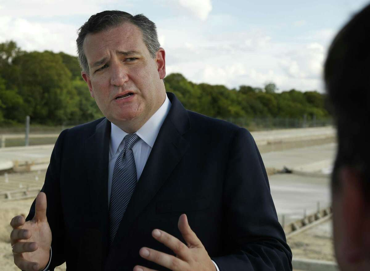 Sen. Ted Cruz to meets with the media at the Gateway Tower Project on Monday, Aug.6, 2018.