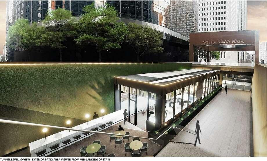 Houston-based Adair  Concepts has inked a deal to open a restaurant in downtown's Wells Fargo Plaza at 1000 Louisiana in the fall of 2019. The4,628-square-foot restaurant, designed in collaboration with Gensler and McGarr Design & Interiors, will haveboth indoor and outdoor seating spaces with direct access to street and tunnel levels. CBRE represented the landlord and provides property management at Wells Fargo Plaza. Photo: Gensler / CBRE