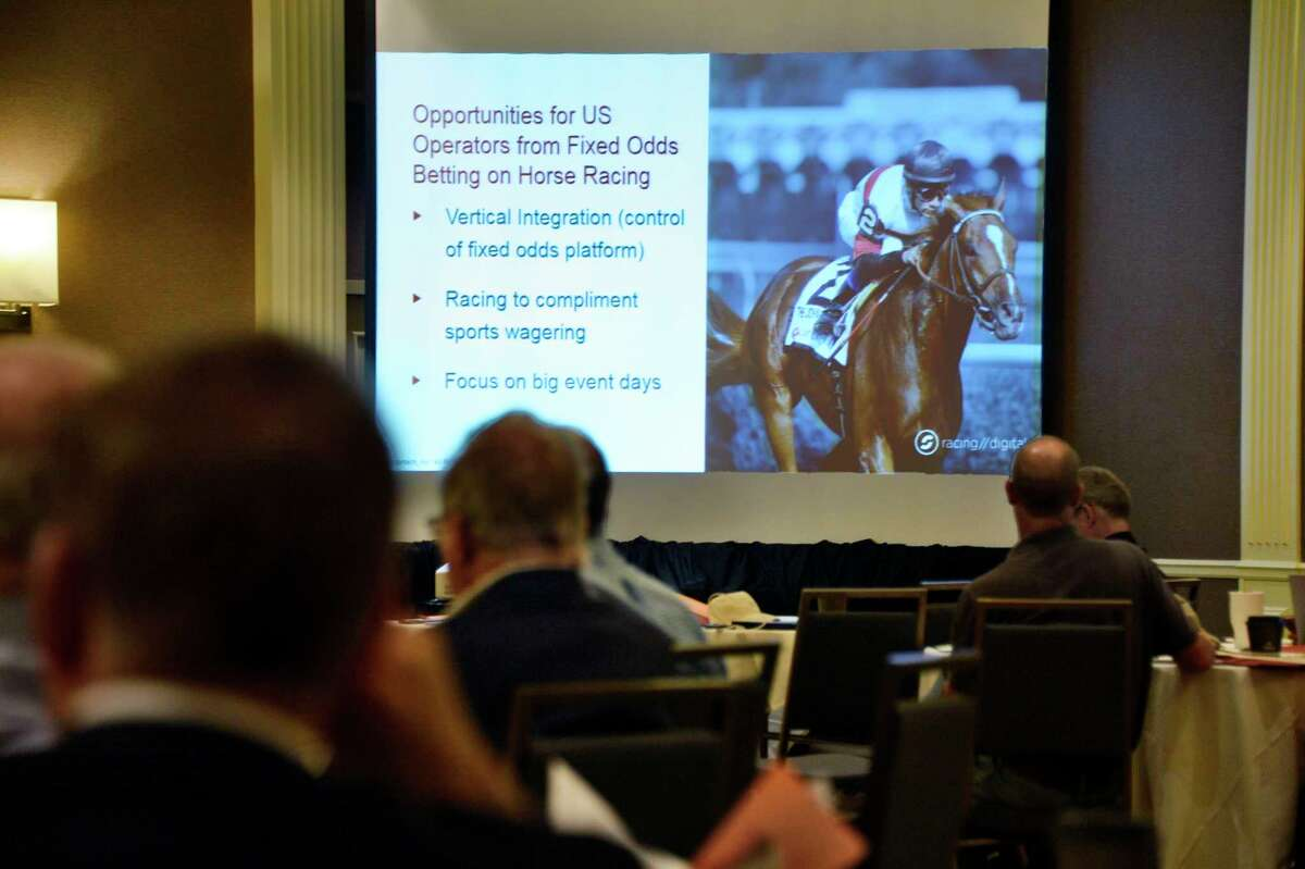Sports gambling was a hot topic at the annual Saratoga Institute on Equine, Racing, and Gaming conference on Tuesday August 7, 2018 in Saratoga Springs, NY. (John Carl D'Annibale/Times Union)