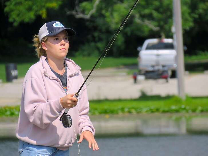 World-champion flycaster Maxine McCormick, 14, at the ready for accuracy competition at the national championships in Indiana, qualified to compete at the world championships in England