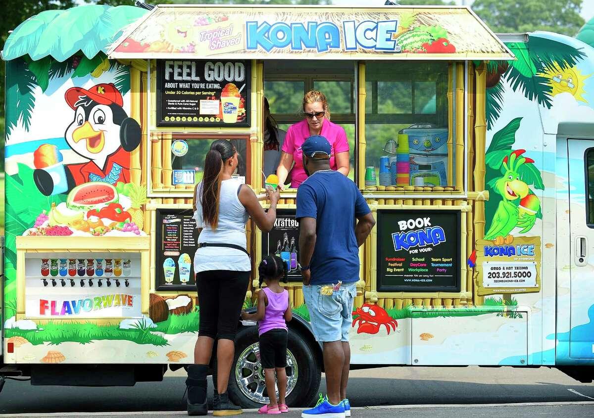Kona Ice Kona Ice is an ice cream/shaved ice truck.