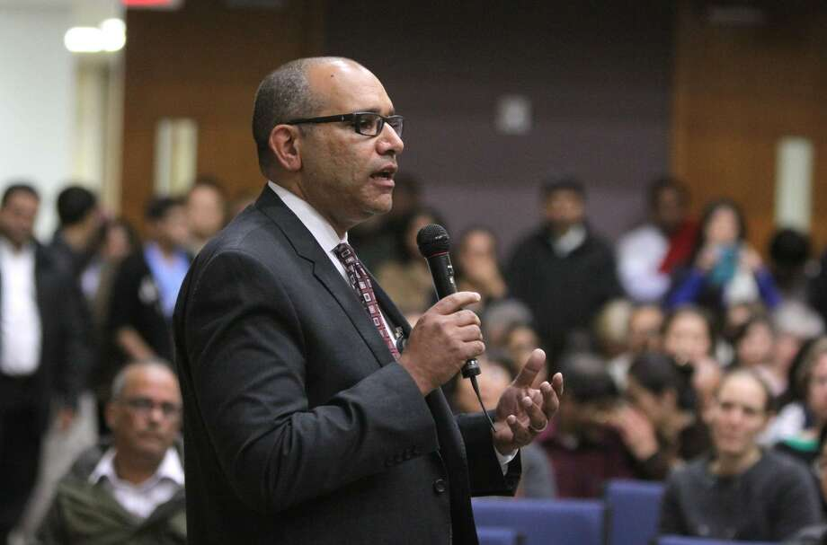 Fort Bend ISD Superintendent Dr. Charles Dupre addresses a crowd in this file photo. Photo: Alan Warren, Staff Photo By Alan Warren / Houston Community Newspapers / Houston Community Newspapers