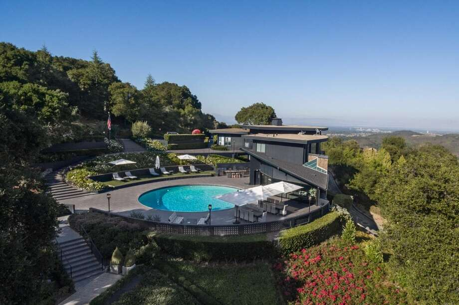 """This rather incredible Woodside home on 8 acres, the """"perch"""" of former Yahoo CMO, finally sold-- for 54 percent of its original asking price. But why? Photo: Gilson Team • Today Sotheby's International Realty"""