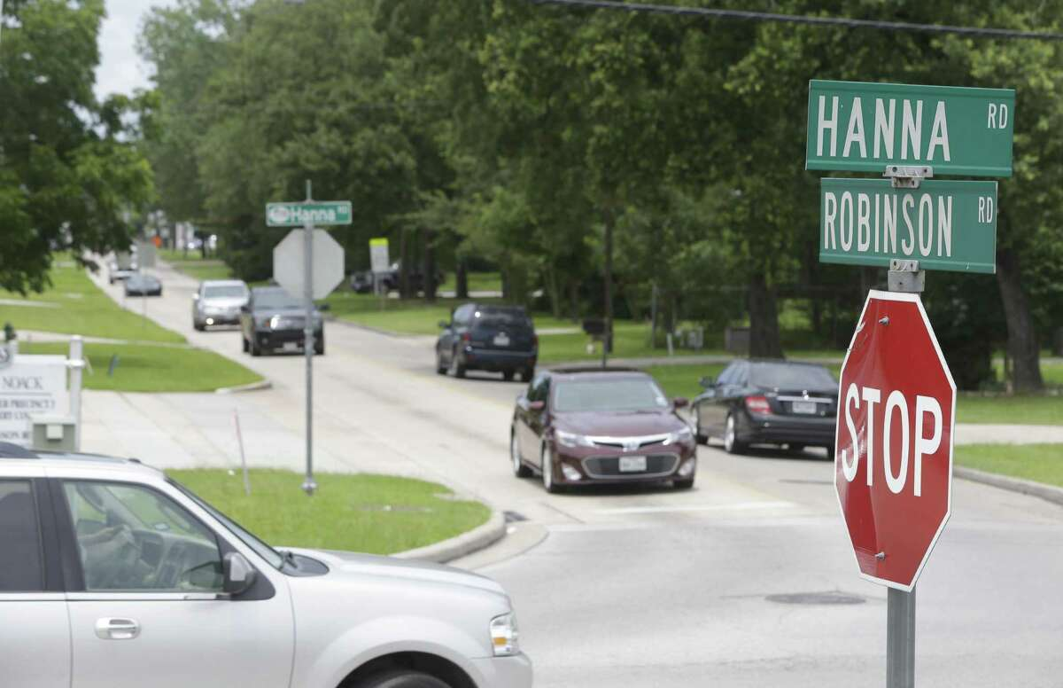 This Villager file photograh shows traffic along Robinson Road and Hanna Road on Saturday, June 27, 2015, in Oak Ridge North. Year later, the project to realign Robinson Road where it intersects with Hanna Road is in the third phase of design.