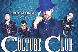 Boy George and Culture Club with Thompson Twins' Tom Bailey perform Friday, Aug. 10, on the Illinois State Fair's grandstand stage in Springfield. Culture Club has been called one of the most influential groups of the 1980s. The British band, led by iconic front-man Boy George, has sold more than 50-million records worldwide.