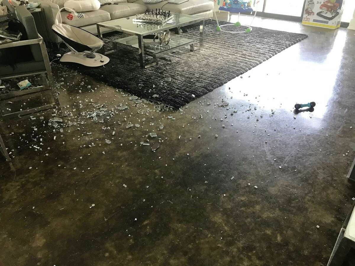 A Houston family's glass dining room table unexpectedly exploded Friday. The explosion was so loud it set off the family's security system.