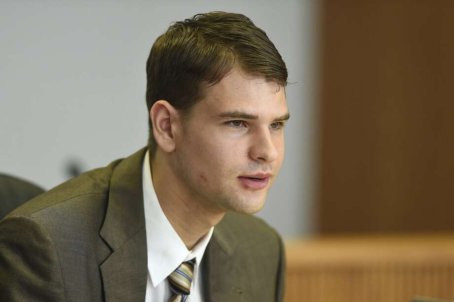 Nathan Carman speaks at a hearing in probate court Tuesday, Aug. 7, 2018, in West Hartford, Conn. Carman who is accused by relatives of killing his millionaire grandfather and his mother to collect inheritance money has asked a Connecticut probate judge to give him access to a trust fund for legal expenses. The judge did not rule immediately on the request by Carman and has set a full hearing date for Sept. 6.  (Cloe Poisson/Hartford Courant via AP) Photo: Cloe Poisson, Associated Press