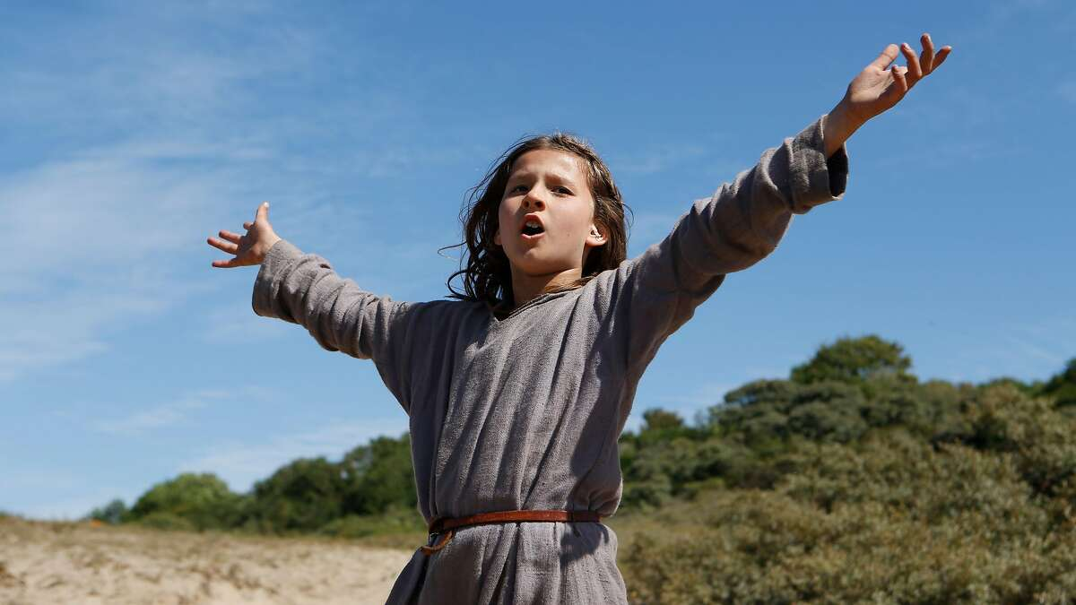 """The future Joan of Arc (Lise Leplat Prudhomme) gets the heavy metal treatment in the medieval history musical """"Jeannette: The Childhood of Joan Arc."""""""