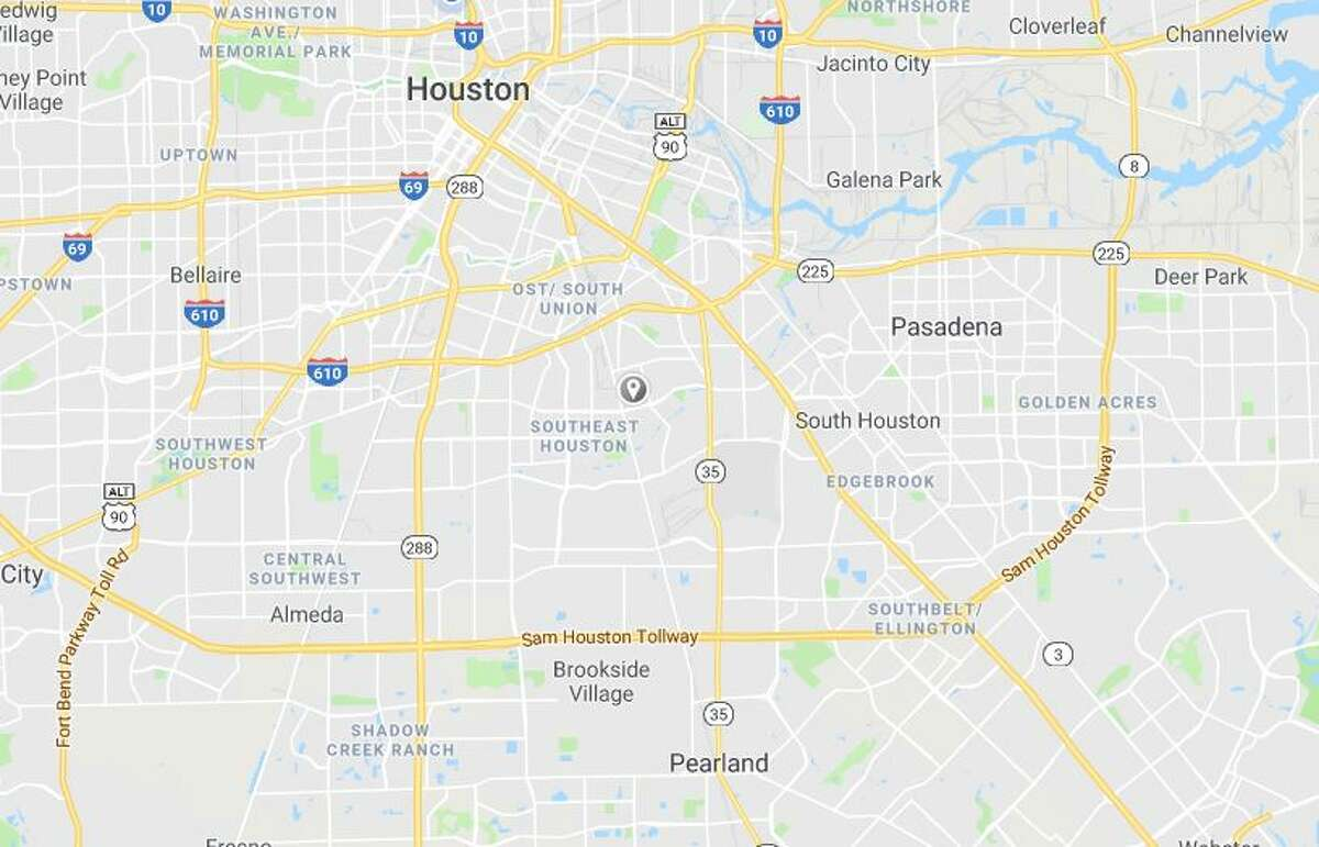 Google Maps image of the 6600 block of Cherrydale in the Golfcrest area of Houston.