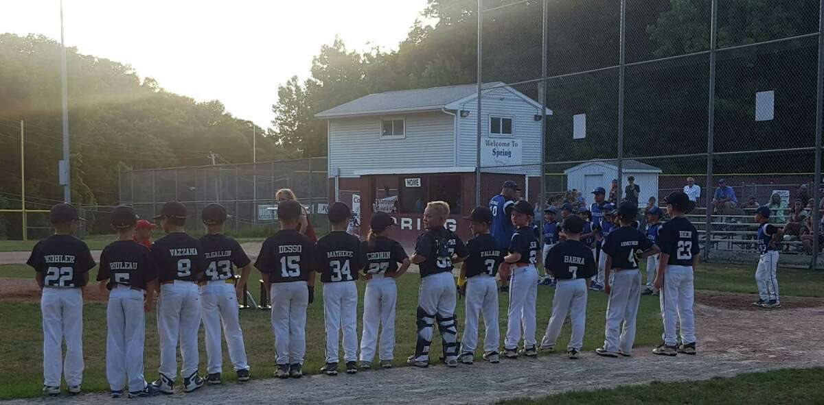 Twin Town Warrior 8-year-olds are ready to take on North Colonie at Spring Avenue Fields last month in this photo submitted by Michael Cronin.