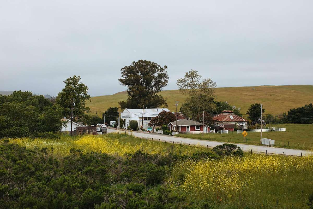 The town of Harmony seen off the Highway 1 in Harmony, Calif., Saturday, May 19, 2018.