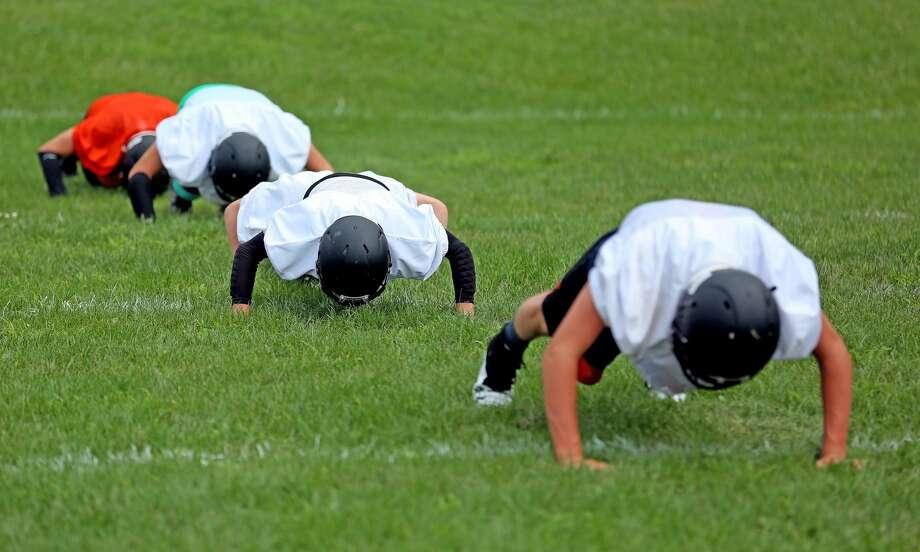 Ubly Football Practice 2018 Photo: Paul P. Adams/Huron Daily Tribune