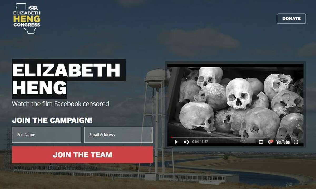 Screen shot from congressional candidate Elizabeth Heng's campaign ad that mentions the 1970s Cambodian genocide.