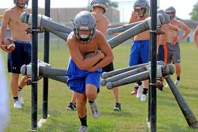 Cass City football practice 2018