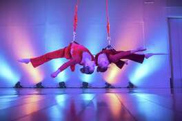 Upswing Aerial Dance, featuring Helen Fitanides and Alissa Kaplan, will perform at the third S.F. Aerial Dance Festival.