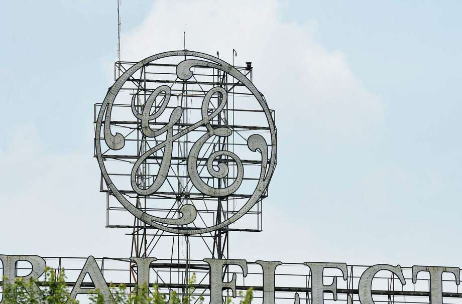 The General Electric sign is seen from Edison Avenue on Tuesday, Aug. 7, 2018, in Schenectady, N.Y. (Will Waldron/Times Union) Photo: Will Waldron