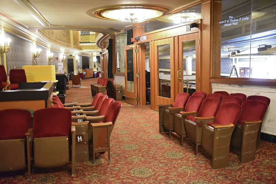 Take a look at Proctors through the years (including its earlier days with an apostrophe, as Proctor's).  Old seats are seen in the lobby as they are removed during a restoration phase at Proctors on Tuesday, Aug. 7, 2018 in Schenectady, N.Y. All 2,565 existing fixed seats at Proctors are being replaced by Irwin Seating Company of Grand Rapids, Mich. (Lori Van Buren/Times Union) Photo: Lori Van Buren / 20044504A