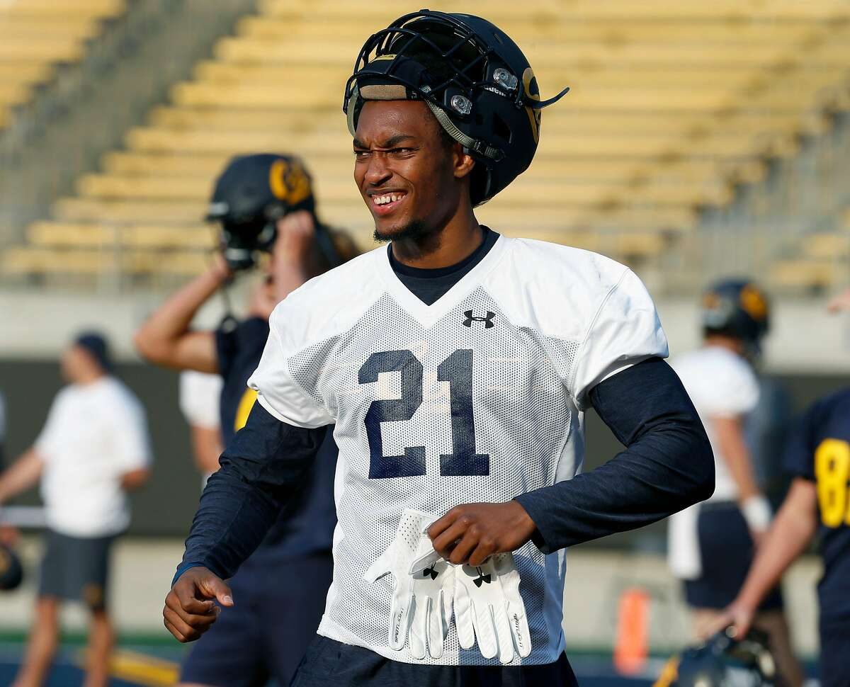 Safety Evan Rambo is ready for the first day of Cal Bears football practice at Memorial Stadium in Berkeley, Calif. on Friday, Aug. 3, 2018.