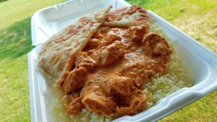 Thechicken tikka masala at Lahori Foods. (Matthew Woods/for the Daily News)
