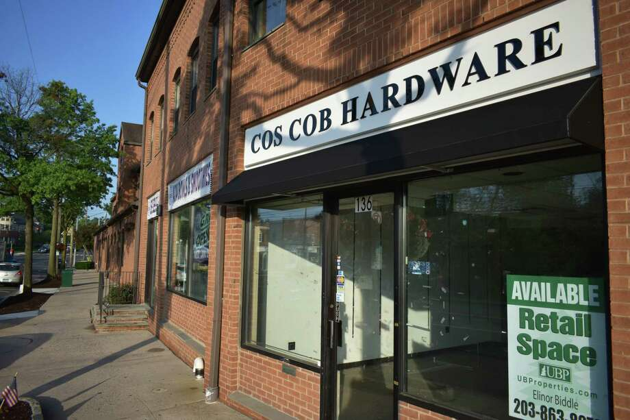 The empty storefront that once was home to Cos Cob Hardware and before that Center Hardware at 136 E. Putnam Ave. in Greenwich.  Photo: Alexander Soule, Hearst Connecticut Media / Stamford Advocate