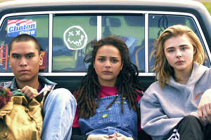 """From left, Forrest Goodluck, Sasha Lane and Chloë Grace Moretz star in """"The Miseducation of Cameron Post."""""""