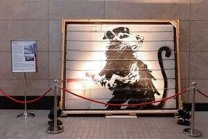 "Banksy's ""Haight Street Rat"" will be on display in Waco next month."