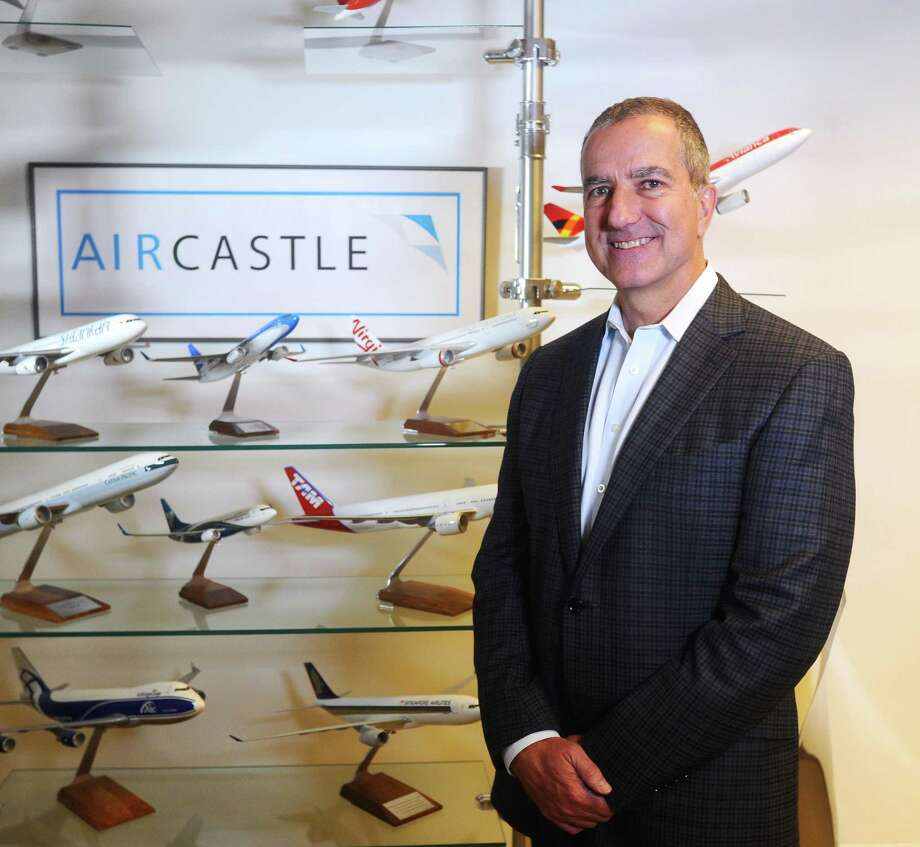 Aircastle CEO Michael Inglese poses for a photo inside the company's then-offices at First Stamford Place office in Stamford, Conn., on Sept. 7, 2017. The company is now headquartered at 281 Tresser Blvd. Photo: Michael Cummo / Hearst Connecticut Media / Stamford Advocate