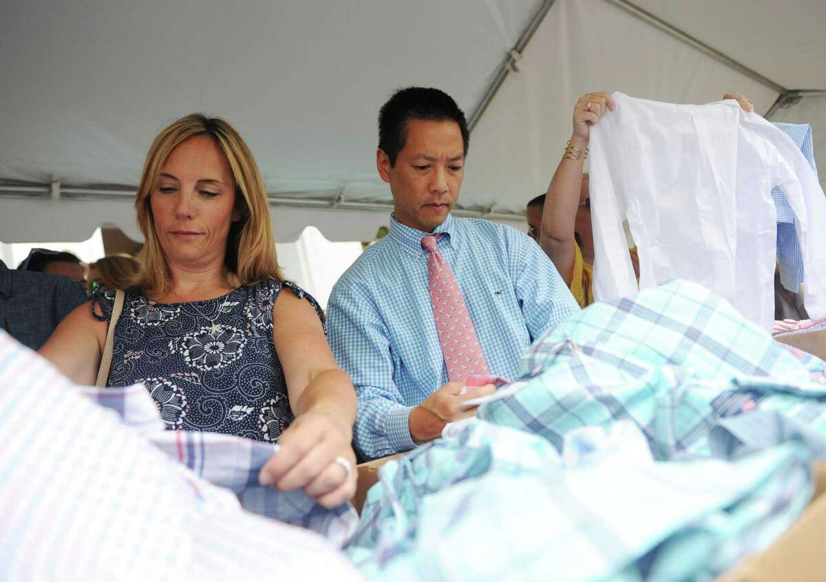 Shoppers peruse clothing from Vineyard Vines in Greenwich, Conn., in this file photo.