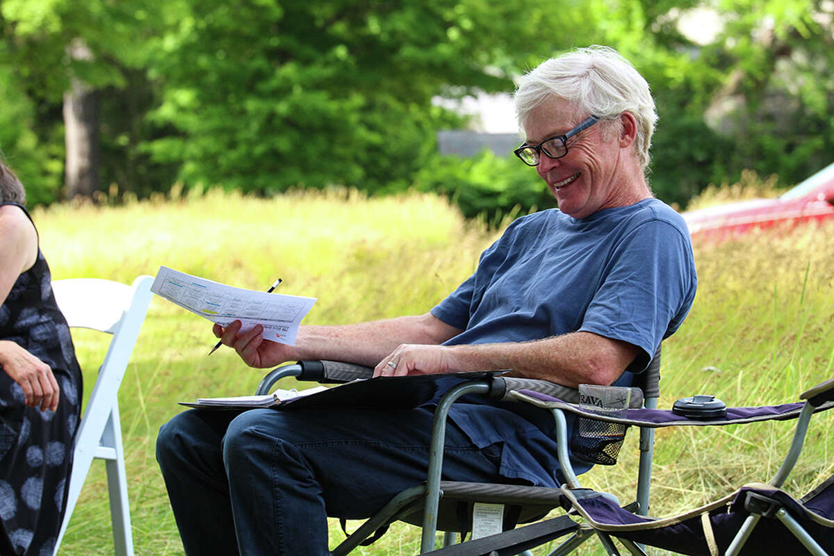 """Allyn Burrows, the artistic director of Shakespeare & Company on the first day of rehearsal for the Lenox, Mass., troupe's outdoor production of """"As You Like It."""""""