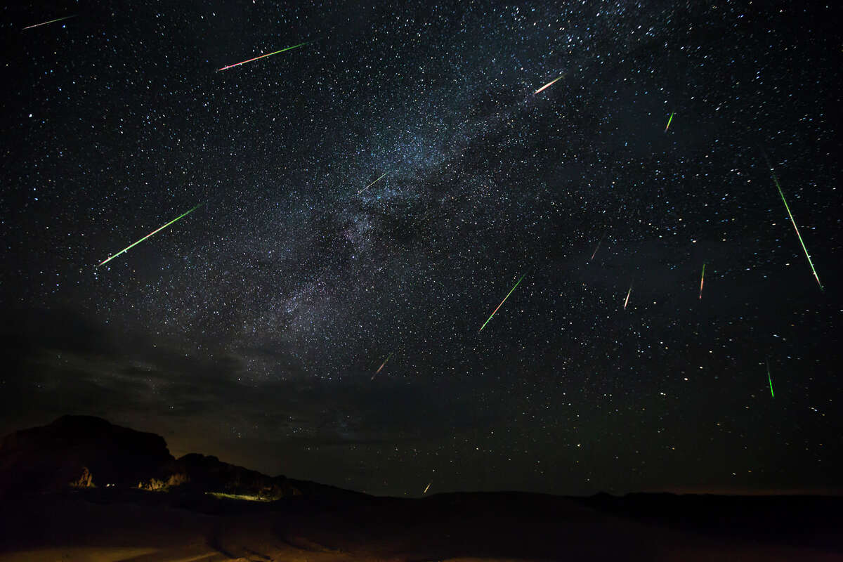 Jason Weingart captures meteors of the Perseid Meteor Shower as they dart across the night sky, on August 14, 2016 in Terlingua, Texas. SHOT in one of the darkest places on Earth, these breathtaking images reveal the beauty of the Perseid meteor shower in all its glory. The astronomical wonder can be seen from July 23 to August 23 and peaked on August 11, when up to 200 meteors are visible across the northern hemisphere every hour.