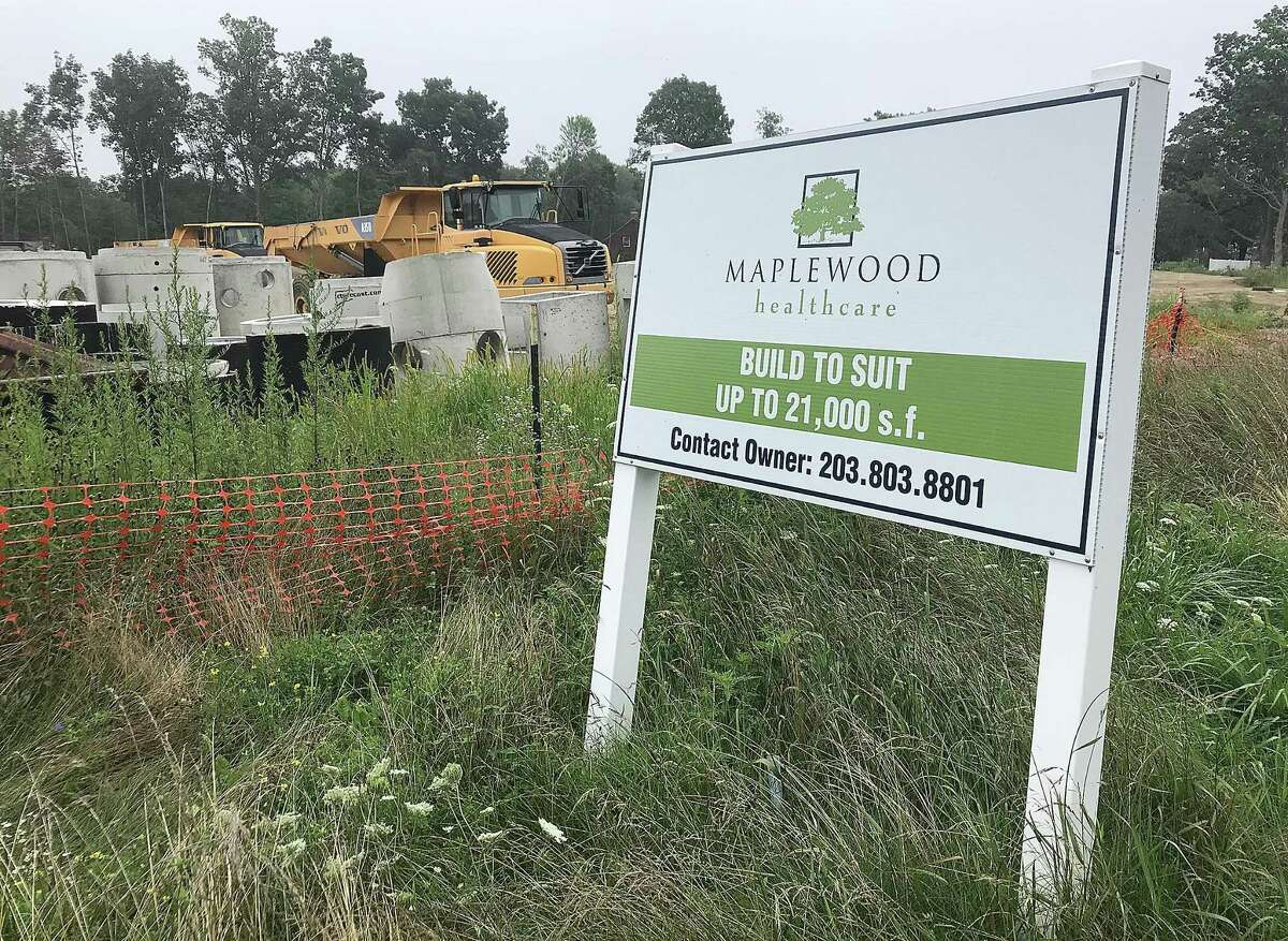Maplewood Healthcare is developing a property lot on Stony Hill Road in Bethel for medical offices, as seen here on Wednesday, Aug. 8, 2018.