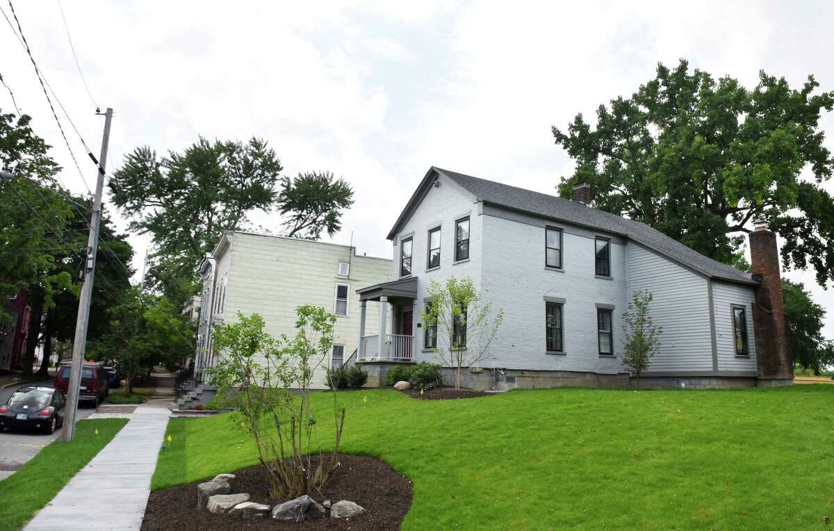 Meredith Anker's Washington Avenue home in the Stockade is complete following a construction project which raised and repositioned the 200-year-old home on Wednesday, Aug. 8, 2018, in Schenectady, N.Y. (Will Waldron/Times Union)