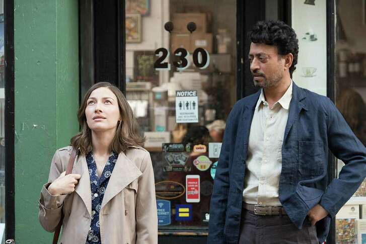 "Kelly Macdonald and Irrfan Khan star as partners in jigsaw puzzle competitions in the film ""Puzzle."""