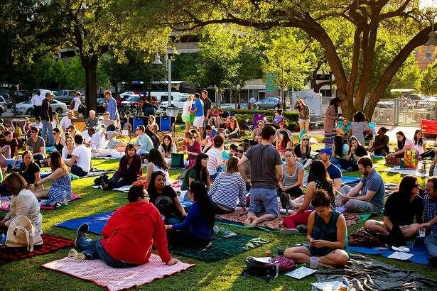 Blanket Bingo at Market Square Park.