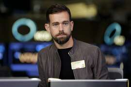 "FILE- This Nov. 19, 2015, file photo shows Square CEO and Twitter CEO Jack Dorsey being interviewed on the floor of the New York Stock Exchange. In a series of tweets late Tuesday, Aug. 7, 2018, Dorsey defended Twitter's decision not to ban right-wing conspiracy theorist Alex Jones and his ""Infowars"" show, as many other social media platforms have done, saying he did not break any rules. (AP Photo/Richard Drew, File)"