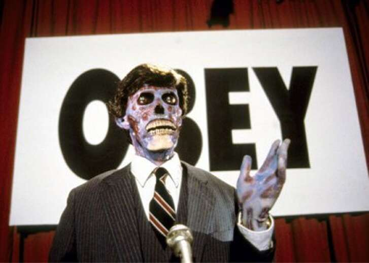 "A scene from the film ""They Live."""
