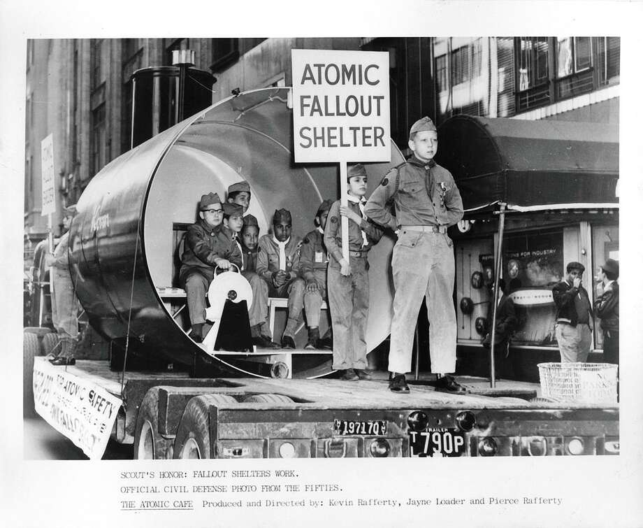 "A fallout shelter is on display in the 1950s in ascene from the newly restored 1982 documentary ""The Atomic Cafe,"" directed by Jayne Loader, Kevin Rafferty and Pierce Rafferty. Photo: Kino Lorber 1982"