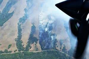 A photo of Wednesday's Marin fire.