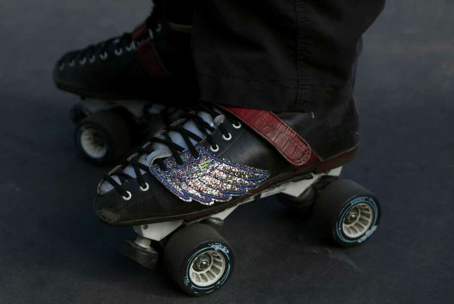 Ralph Bowthing stops for a break at the outdoor roller skating spot in Golden Gate Park. Photo: Natasha Dangond / The Chronicle / ONLINE_YES
