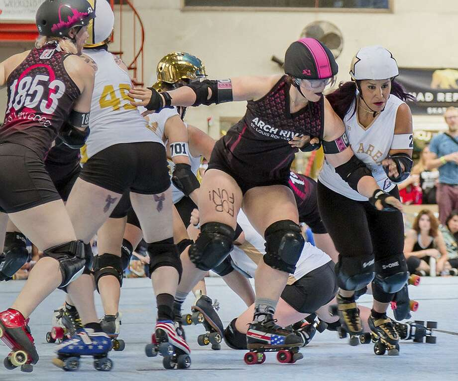 The Bay Area Derby flat track roller derby All Stars compete against teams from around the United States. Photo: Will Toft / Copyright (c) 2018 William Toft
