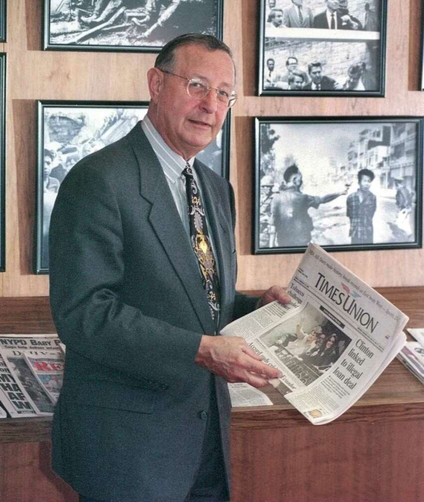 Robert Danzig, the Hearst VP and General Manager of newspapers, is pictured at the Times Union on Monday, Feb. 10, 1997, in Colonie, N.Y. (Lori Van Buren/Times Union)