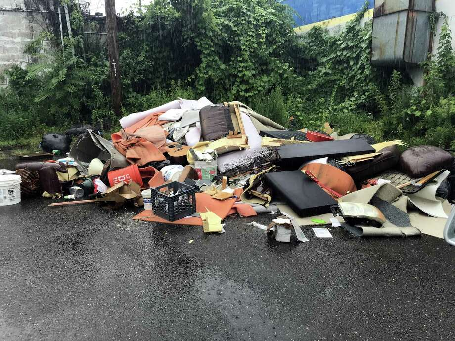 The site of the alleged illegal dumping incident behind the former Nicks Luncheonette at 423 First Ave. in West Haven. Photo: Contributed Photo / Tom McCarthy - City Of West Haven